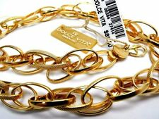 "DV Dolce Vita 18k Gold Plate/Bronze Fancy Link Necklace 18"" Italy- New $88 Tags"