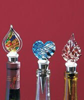 ART STAINED GLASS BOTTLE STOPPER WINE CORKS (YOUR CHOICE)