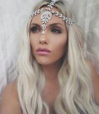 Glamorous Silver Jewel Headpiece Matha Patti Boho Bride Queen Diamond Goddess