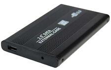 """2,5"""" USB 2.0 Extern Festplattengehäuse SATA Case Alu Schwarz Festplatte Gehäuse"""