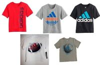 New Adidas Little Boys Athletic Sports Tee Shirt [Choose Color & Size]
