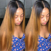 100% Real Virgin Human Hair Wig 9A Brazilian Ombre Blonde Full Lace Front Wigs