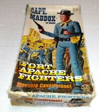 VINTAGE CAPT MADDOX BY MARX FORT APACHE FIGHTERS MOVABLE CAVALRYMAN