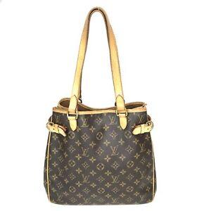 100% Authentic Louis Vuitton Monogram Batignolles Vertical M51153 Used {08-0339}