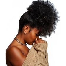 Abena #2 Large size Synthetic Curly Wave Hair Clip In Ponytail Afro Kinky Puff