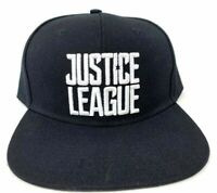 Justice League Black With White Embroidered Snapback Adjustable Fit Cap Hat