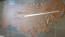 Vintage Rustic Brown Real Leather Upholstery Hide 24 sq ft Craft Bag 1.1mm k9a