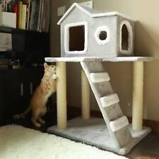 Árbol para Gatos Rascador Torre Estable 90cm Condominio con Escalera Casa