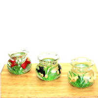 1:12 Miniature Glass Fish Tank Transparent Aquarium Dollhouse Ornaments Decor FT
