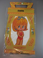 Vintage Paper Doll DIANE w/ Stand (made San Sebastian) unopened miniboutique 84
