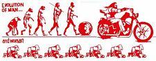 "037 HELLS ANGELS Support 81 Sticker Aufkleber ""Evolution of Man"" groß"