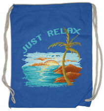 Pixel Just Relax Turnbeutel Gamer Gaming Geek Nerd Fun Beach Holidays Sea