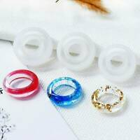 3PCS Flexible Hot Assorted Silicone Ring Mold For Making Resin Epoxy Jewelry DIY