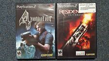 Resident Evil 4 & Outbreak - PS2 (TESTED and WORK)