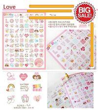 Korean Mini Factory Diary Book Scrap Calendar Schedule Decoration Sticker 3 Set