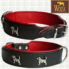 WOZA DOG COLLAR BEAGLE DOG COLLAR REAL LEATHER COLLAR GENIUNE COW LEATHER CO2365