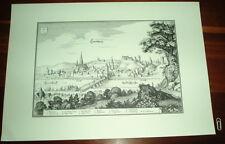 Landsberg am Lech alte Ansicht Merian Druck Stich 1650