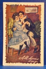 c1912 Romantic Postcard/ALL HANDS BUSY
