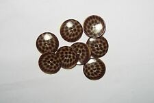 6pc 34mm Brown Leopard Spot Effect Coat Cardigan Kid Baby Button Bead 2977