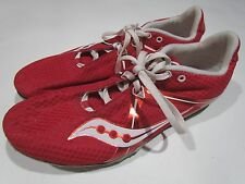 SAUCONY VELOCITY 5 ~ Mens Size 11 Spike DISTANCE Red Sneaker Running Shoes