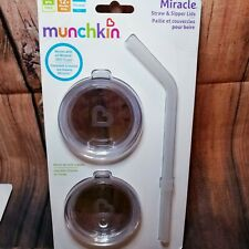 Munchkin Sippy and Straw Lids for Miracle 360 Cups, 3 Piece 2 Sets kids Replacem
