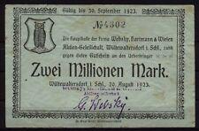 [16938]  - Notgeld WÜSTEWALTERSDORF (heute: Walim), Websky, Hartmann & Wielen AG