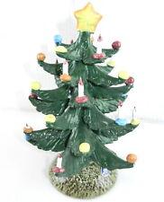 "Nuova Capodimonte Porcelain Christmas Tree 9"" Tall Italy T76"