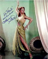 ARLENE DAHL Hand Signed Photo 8 x 10 Color Authentic Autograph To Steve