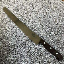 Vintage RH Forschner Co Victorinox 5.2930.26 Serrated Knife Wood Handle 10""