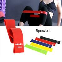 5pcs/set Resistance Bands Exercise Sports Loop Fitness Home Yoga Latex New