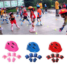 7set Kids Skateboard Helmet&Protector Elbow Pads For Skate Scooter Stunt Bike