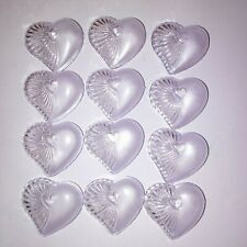 """Set of 12 Clear Heart Box 2.5"""" Clear Party Favors Wedding Bridal Shower Love"""