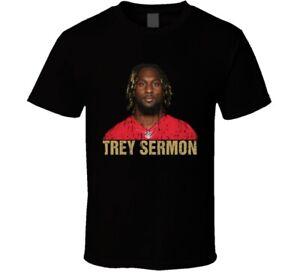 Trey Sermon San Francisco Football Fan Sports Gift Worn Look T Shirt