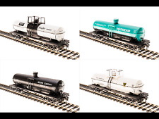 BROADWAY LIMITED 1/87 HO SCALE 6000 GALLON TANK CAR VARIETY SET A 4 PACK 6126 FS