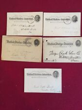 US Postal Cards 5 One cent Used cards 19th century variety