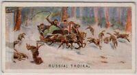 Russian Three Horse Winter Troika Sled Sleigh 1920s Trade Ad Card