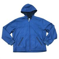 NIKE Track Jacket Windbreaker Women's Size Large 12 - 14 Blue Full Zip Hoodie