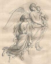 A5622 Gibson - Altorilievo tomba contessa Leicester - Xilografia 1864_Engraving
