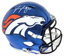 Phillip Lindsay Autographed Denver Broncos Chrome Replica Helmet JSA 25486