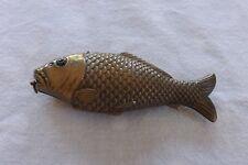 BEAUTIFUL RARE FRENCH CASED ORNATE FISH NECESSAIRE THIMBLE SCISSORS HOOKS