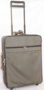 """Briggs & Riley Olive Green Expandable Rolling Wheeled Suitcase 24"""" Luggage"""