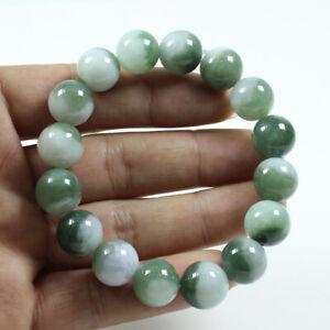 Certified Grade A Natural Emerald Green Jadeite Beads hand chain Bracelet j2446