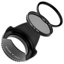 Gegenlichtblende UV Filter Polfilter 55mm passt zu Sony Objektiv 18-55 55-200