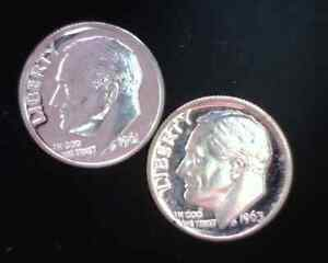 1961 and 1963 Proof Roosevelt Dimes