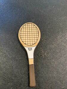 """Vintage Dollhouse Diorama Miniature Wood Tennis Racket W/can Jimmy Connors 2"""""""