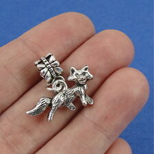 Silver Cute FOX Wild Animal Dangle Bead CHARM fits EUROPEAN Bracelet *NEW*