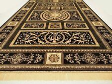 Seiden Teppich Carpet Schwarz 350x250 medusa versac Perser Orient barock rug Neu