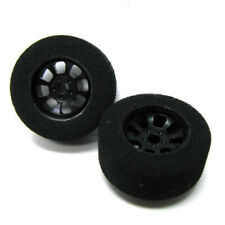 H&R Racing HR1102 Nascar Front Black Narrow Wheel w/ Foam Tire (2) 1:24 Slot Car