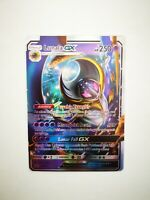 SM17 carte holo prism Pokemon GX HP Anglaise replica FAN CARD LUNALA