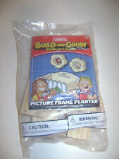 NEW LOWES BUILD & GROW PICTURE FRAME PLANTER SET KIT HOME DEPOT WOODEN PROJECT